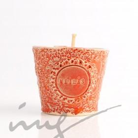 """Aromatinė sojų vaško žvakė - """"Deganti Citrinos ir Verbenos meilė"""""""