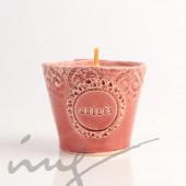 """Aromatinė sojų vaško žvakė - """"Cirinos ir Verbenos melė raudonam vyne"""""""