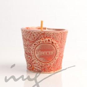 """Aromatinė sojų vaško žvakė - """"Deginanti Cirinos ir Verbenos šiluma"""""""
