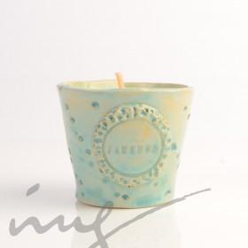 """Aromatinė sojų vaško žvakė - """"Dangiško Jazmino meilė"""""""