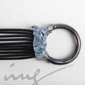 Žiedo formos originalus kaklo papuošalas rožinė/mėlyna