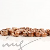 Rankų darbo keramikiniai karoliukai - ruda, 5 mm skylute